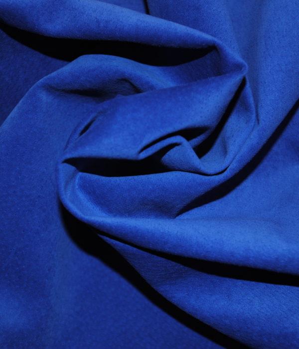 Замша синяя