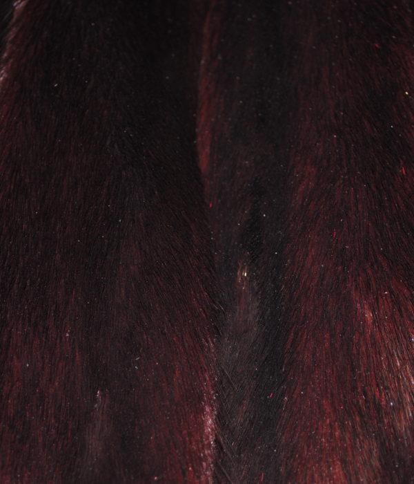Норка темно бордовая самец