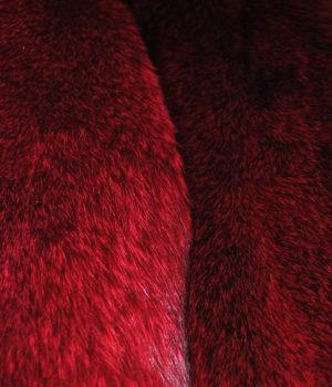 Енот из серого в красный