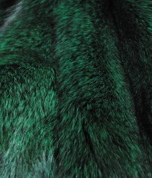 песец из серого в зеленый