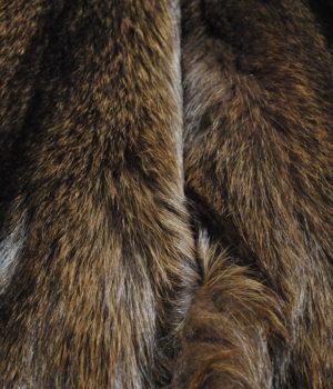 Песец из серого в оливко коричневый