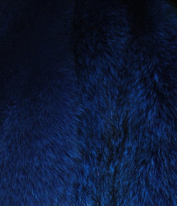 Песец из серого в синий
