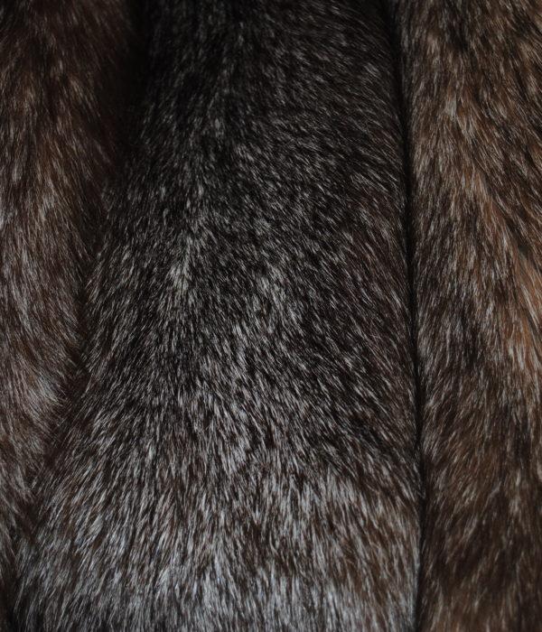 Песец из серого в светло коричневый