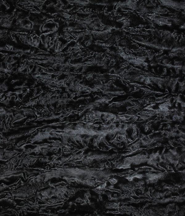Пластина из лап каракуля черная