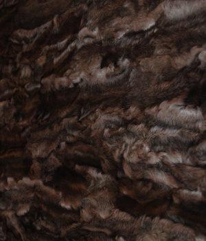 Пластина из лап каракуля коричнево-розовая